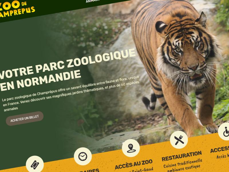 Le site internet du Zoo de Champrépus fait peau neuve
