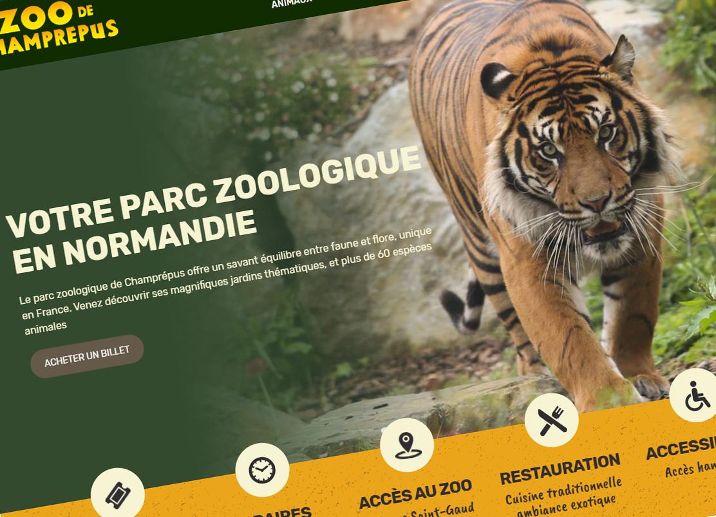 Le site internet du zoo de champr pus fait peau neuve for Le site internet