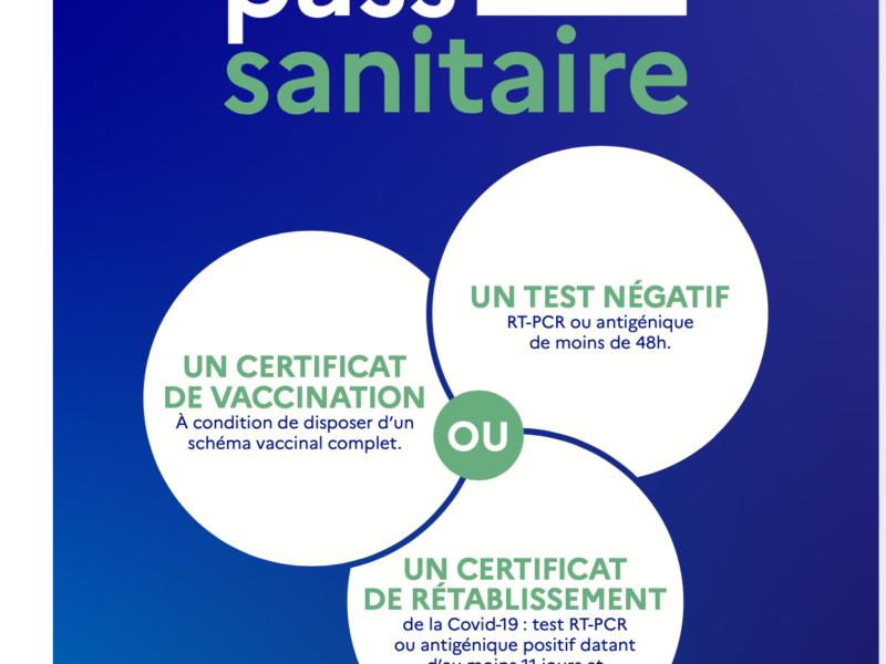 Pass Sanitaire obligatoire dès le 21 juillet 2021
